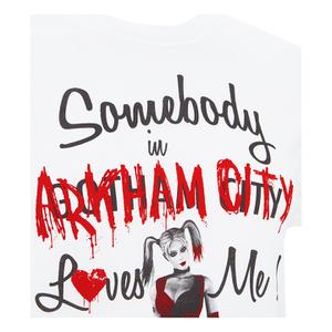 DC Comics Men's Batman Harley Quinn Loves Me T-Shirt - White: Image 3