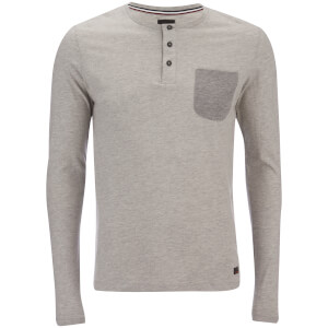Produkt Men's Contrast Pocket Long Sleeve Top - Light Grey Melange