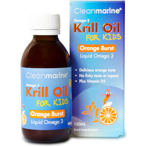 Cleanmarine Krill Oil for Kids Orange Burst Liquid Omega 3 - 150ml