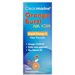 Cleanmarine Krill Oil for Kids Orange Burst Liquid Omega 3 - 150ml: Image 2