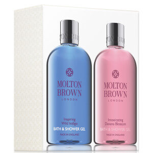Molton Brown Inspiring Wild Indigo and Intoxicating Davana Blossom Bath and Shower Gel Set 2 x 300ml