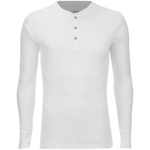 Levi's Men's 300LS Long Sleeve Button Neck T-Shirt - White
