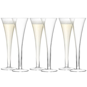 LSA Hollow Stem Champagne Flute - 200ml (Set of 6)