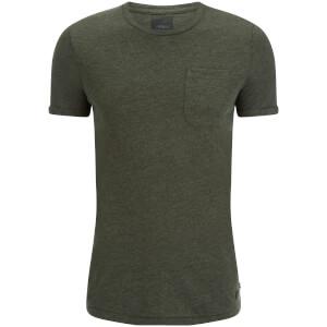 T-Shirt Homme Produkt Textured Core -Kaki