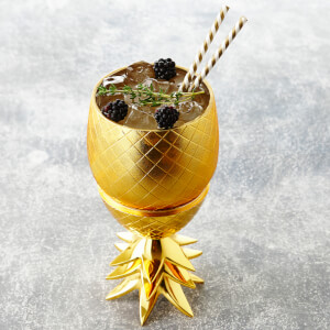 Pineapple Storage Pot/Tumbler - Matt Brass