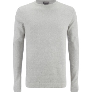 Jack & Jones Men's Originals Basic Jumper - Light Grey Melange