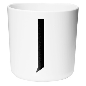 Design Letters Kids' Collection Melamin Cup - White - J