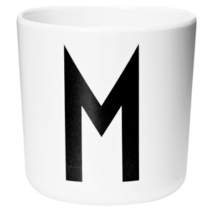 Design Letters Kids' Collection Melamin Cup - White - M