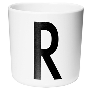 Design Letters Kids' Collection Melamin Cup - White - R