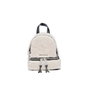 MICHAEL MICHAEL KORS Women's XS Shearling Backpack - Natural/Black