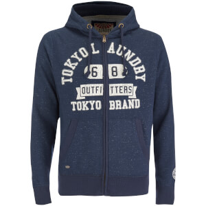 Tokyo Laundry Men's Hotchkiss Zip Through Hoody - Dark Navy