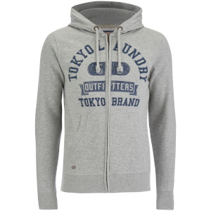 Tokyo Laundry Men's Hotchkiss Zip Through Hoody - Light Grey Marl