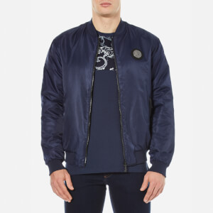 Versace Jeans Men's Zipped Bomber Jacket - Blue