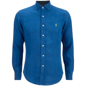 Polo Ralph Lauren Men's Slim Fit Long Sleeve Linen Shirt - Chalet Blue