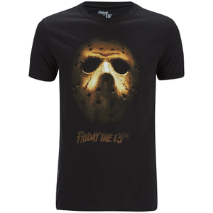 Friday the 13th Mens Mask T-Shirt - Zwart