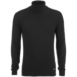 Threadbare Men's Barnet Roll Neck Jumper - Black