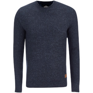 Pull Threadbare pour Homme Potter Twist Yarn Fisherman -Marine/Denim