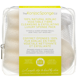 Набор для поездок The Konjac Sponge Company 100% Pure Deluxe Travel Pack Duo