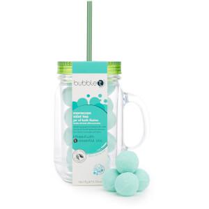 Bubble T Bath & Body - Bath Fizzers in Reusable Jar 11 x 20g (Moroccan Mint Tea)