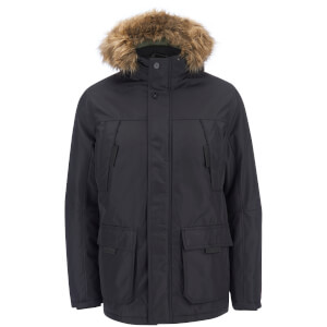 Jack & Jones Men's Core Hollow Parka Jacket - Black
