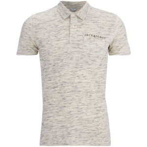 Jack & Jones Men's Core Barrett Polo Shirt - Blanc De Blanc