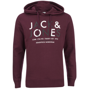 Jack & Jones Men's Core Noah Print Hoody - Port