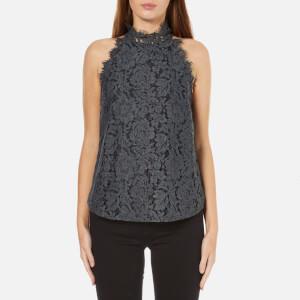 Diane von Furstenberg Women's Jemmie Lace Top - Grey Melange