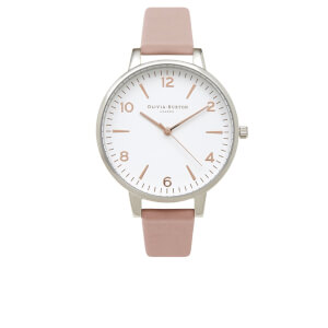 Olivia Burton Women's Modern Vintage Big Dial Watch - Dusty Pink/Silver/Rose Gold Mix