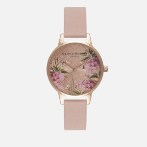 Olivia Burton Women's Dot Design Midi Watch - Dusty Pink/Rose Gold