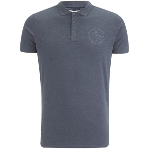 Crosshatch Herren Cultize Stamp Polo Shirt - Navy Marl