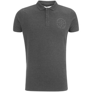 Crosshatch Herren Cultize Stamp Polo Shirt - Charcoal Marl