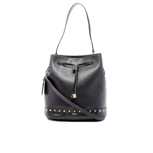 Lauren Ralph Lauren Women's Dixon Carley Studded Drawstring Bag - Black