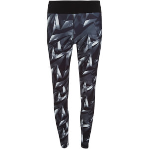 adidas Women's Allover Graphic Training Long Tights - Black