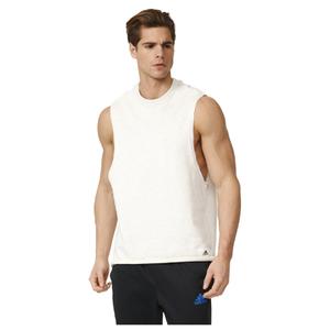 adidas Men's HVY Terry Training Tank Top - White