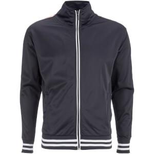 Brave Soul Men's Vintage Zip Through Tricot Jacket - Navy