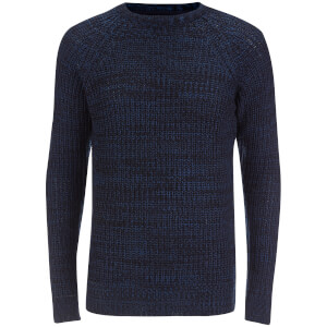 Brave Soul Men's Maximus Chunky Fisherman Jumper - Blue