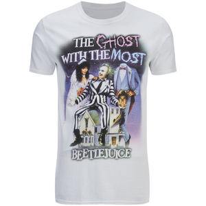 "Camiseta Beetlejuice ""The Ghost With The Most"" - Hombre - Blanco"