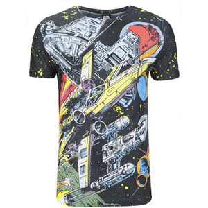 Star Wars Herren Comic Battle T-Shirt - Weiß