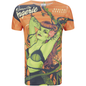 T-Shirt Homme DC Comics Bombshell Poison Ivy - Rouge