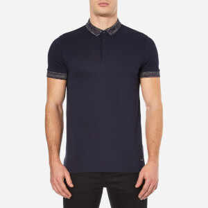 BOSS Orange Men's Pilipe Spacedye Polo Shirt - Dark Blue