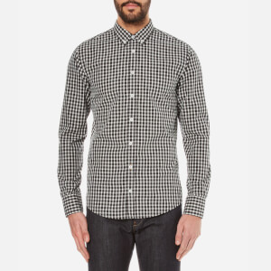 BOSS Orange Men's Epidoe Checked Long Sleeve Shirt - Open White