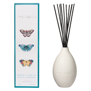 Harlequin Papilio Amber Citrus and White Flower Reed Diffuser