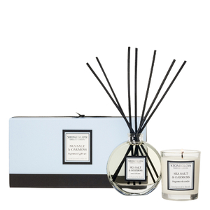 Stoneglow Sea Salt and Oakmoss Candle and Reed Gift Set