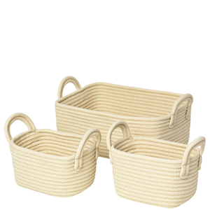 Broste Copenhagen Set of Jute Baskets and Boxes