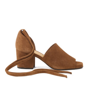 H Shoes by Hudson Women's Metta Suede Heeled Sandals - Tan