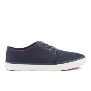 Jack & Jones Men's Turbo Waxed Canvas Low Top Trainers - Navy Blazer