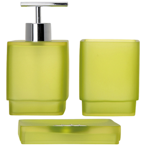 Sorema Frost Bathroom Accessories - Pistachio (Set of 3)