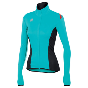 Sportful Women's Fiandre Light NoRain Long Sleeve Jersey - Turquoise