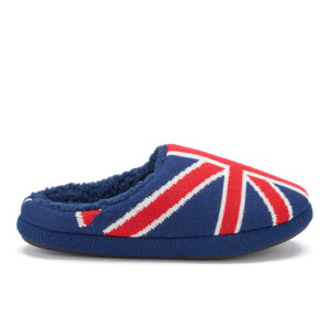 Dunlop Men's Ace Union Jack Slippers - Navy