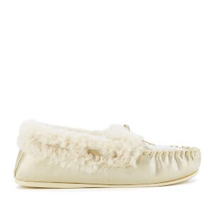 Dunlop Women's Amaline Moccasin Slippers - Gold